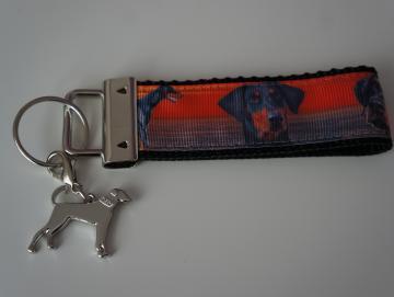 Schlüsselband mit Dobermann