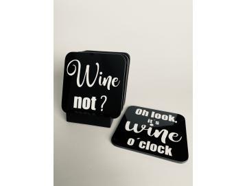 Glasuntersetzer, Set Wein