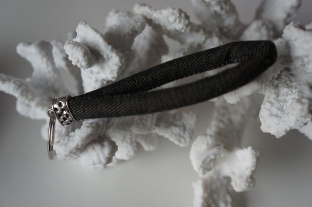 Schlüsselband Jeans schwarz